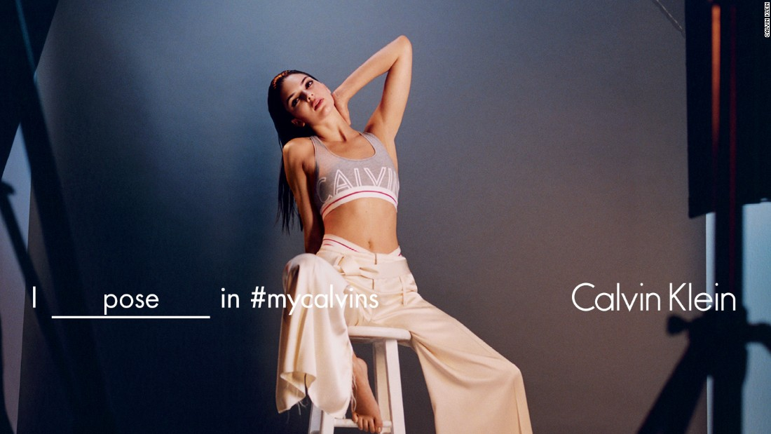 Reality TV star Kendall Jenner, who has 53.7 million followers on Instagram, has also been enlisted for the #mycalvins campaign.