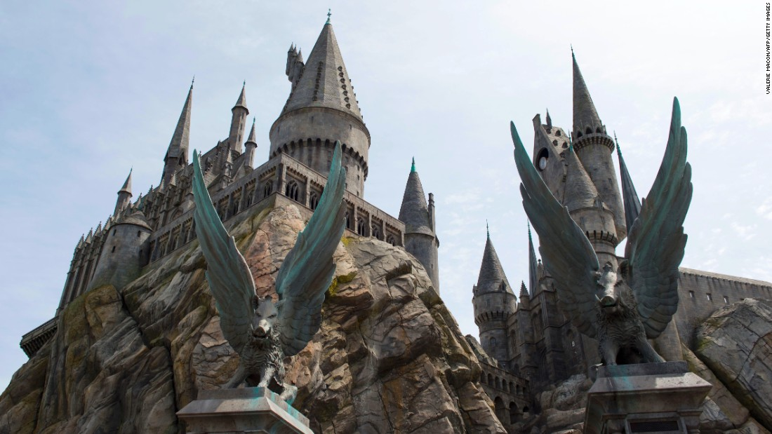 "Wizarding World has two roller coasters  -- the outdoor ""Flight of the Hippogriff"" and the 3-D-based ""Harry Potter and the Forbidden Journey"" ride, located inside Hogwarts castle."