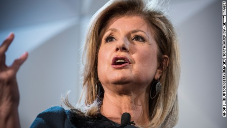 NEW YORK, NY - FEBRUARY 11:  Arianna Huffington, Editor-in-Chief of the Huffington Post, attends an event promoting the London tech industry with the Mayor of London, Boris Johnson, on February 11, 2015 in New York City. The event is part of Johnson's visit to the United States, where he is visiting Boston, New York and Washington D.C.  (Photo by Andrew Burton/Getty Images)