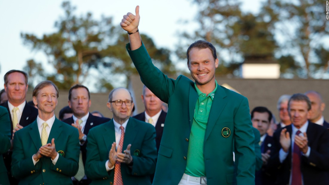 "Masters champion Danny Willett gives a thumbs-up to the crowd after winning the tournament on Sunday, April 10. He is the first Englishman to win <a href=""http://www.cnn.com/2016/04/07/golf/gallery/masters-golf-2016/index.html"" target=""_blank"">the Masters</a> since Nick Faldo in 1996."