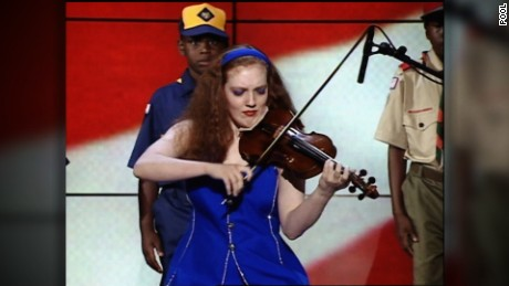 The year after her train accident, the violinist played at the 1996 Democratic Convention in Chicago.