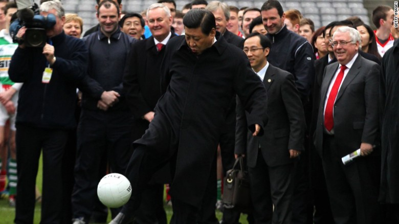 China aims to become a football superpower by 2050