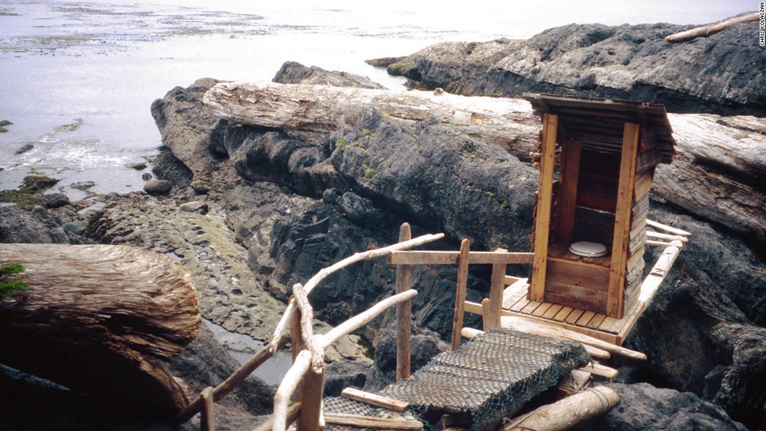 "Twice-daily tides wash away the waste from this wooden outhouse. (Picture credit: <a href=""https://500px.com/"" target=""_blank"">500px</a>)"