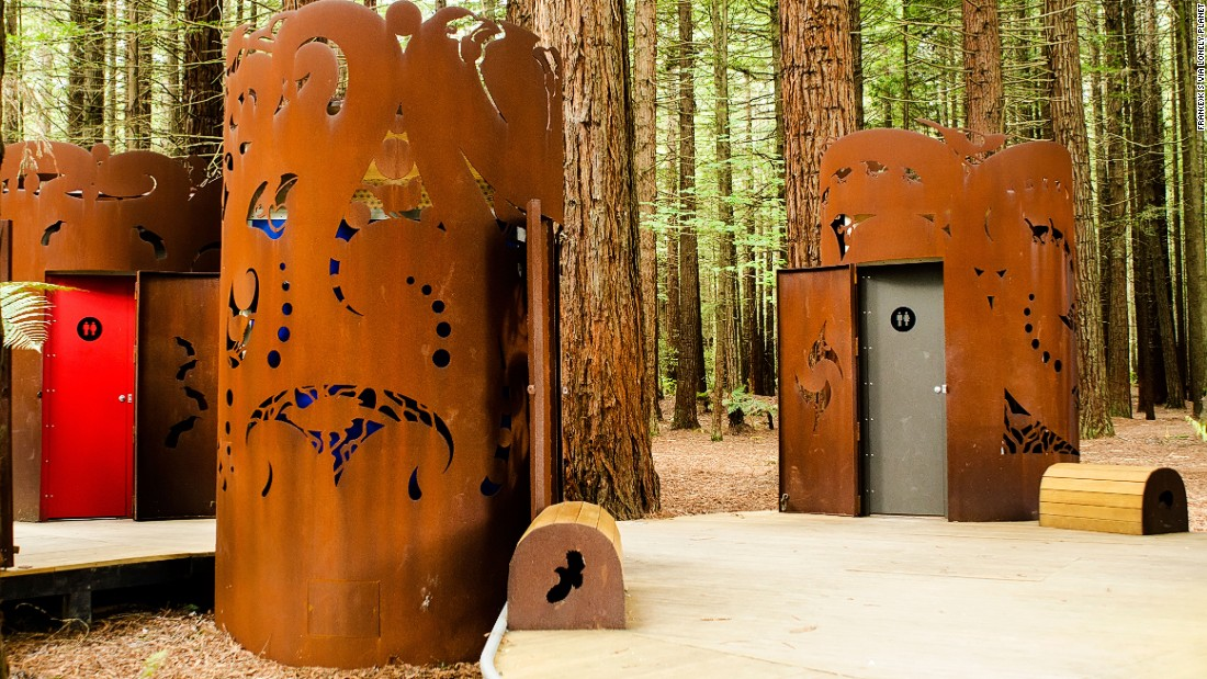 "These public toilets are encased in shrouds designed by Maori artist Kereama Taepa. Each depicts an extinct or endangered native bird. (Picture credit: <a href=""https://500px.com/"" target=""_blank"">500px</a>)"