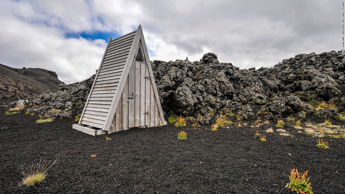 "Forget the petrified lava, the real attraction of the Laugahraun hiking trail is this triangular toilet. (Picture credit: <a href=""https://500px.com/"" target=""_blank"">500px</a>)"