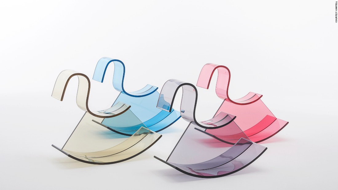 "With an all-acrylic modern take on the classic children's rocking horse, Nendo's <a href=""http://edition.cnn.com/2015/06/30/design/oki-sato-nendo-design/"">Oki Sato</a> doesn't disappoint. This gorgeous piece of furniture is pretty enough to display openly in your home -- even if you don't have kids!"