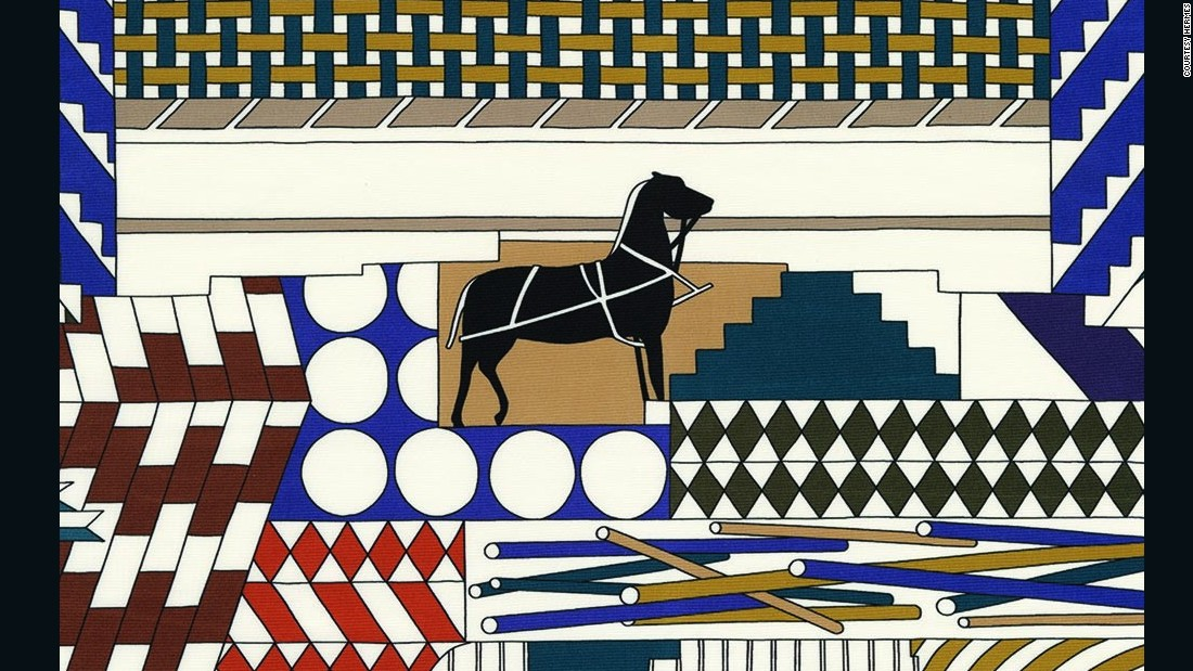 At Salone del Mobile in April, Italian fabric and wallpaper designer Dedar showcased its collaboration with luxury fashion house Hermès. The collection's strong geometric patterns are inspired by travel and fantasy.