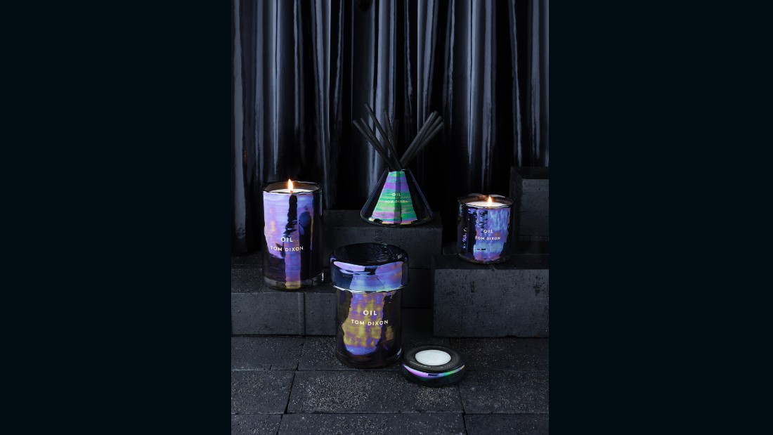 "After fringe, my second trend prediction of new trends for 2016 was iridescence, and I'm once again surprised by how <a href=""http://www.tomdixon.net/"" target=""_blank"">Tom Dixon</a> hit the nail on the head. <br /><br />If you're from my generation, you might remember the popular stickers dubbed ""oilies"" that were filled with liquid crystal gel that changed color. Dixon's oil family of lighting and accessories is so very reminiscent of those beloved relics of the 80s."