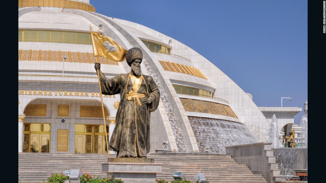 "Welcome to Ashgabat, Turkmenistan. The capital of the secretive Central Asian state is not only a showcase for controversial leader President Gurbanguly Berdimuhamedov but also the holder of many obscure records: among them, <a href=""http://www.guinnessworldrecords.com/world-records/highest-density-of-white-marble-clad-buildings"" target=""_blank"">the highest density of white marble-clad buildings</a> anywhere in the world."