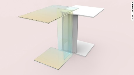 Kukka tables in collaboration with Caesarstone + Prinz Optics GmbH ABCD table