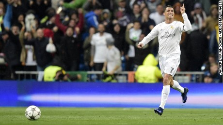 Cristiano Ronaldo scored his third Champions League hat-trick this season.