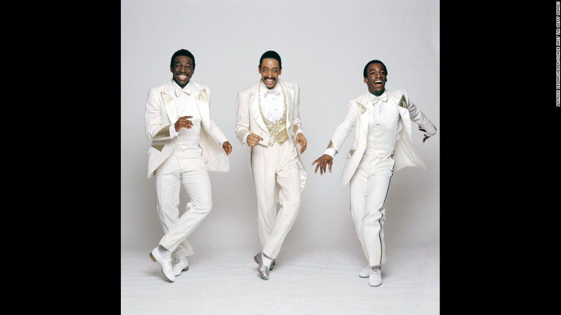 "From left, dancers Hinton Battle, Gregory Hines and Gregg Burge promote their Broadway musical ""Sophisticated Ladies"" in 1981."