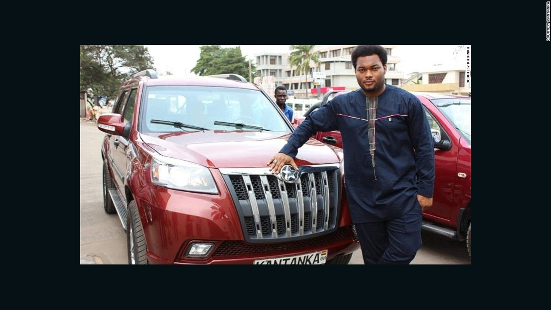 "30-year old Kwadwo Safo Jr. is CEO of the family's car business, which in December put its first car on the market for sale. ""Kantanka has had a good start,"" he said."
