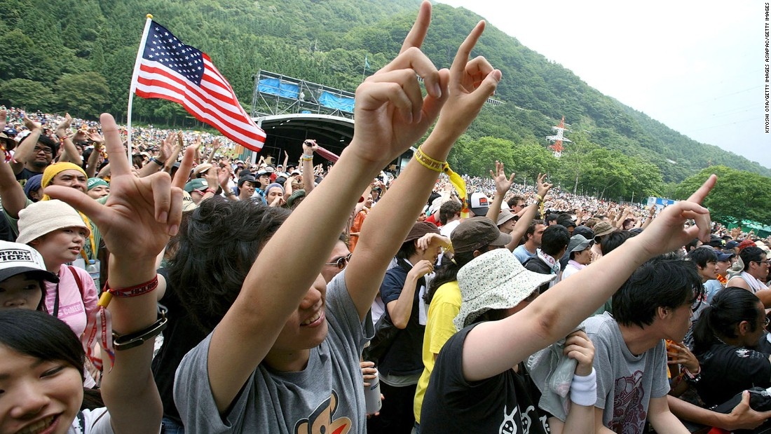 Fuji Rock, with seven music stages in the shadows of Mount Fuji, is where Japan lets its hair down.