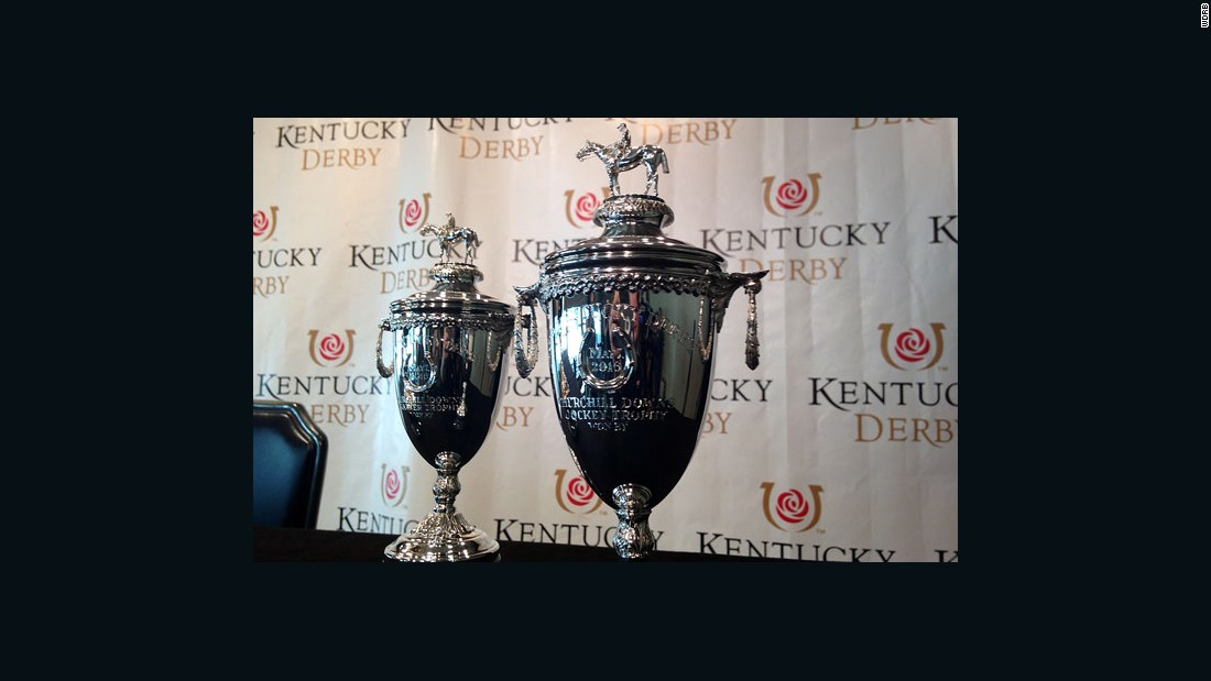 Kentucky Derby's 14-karat gold trophy at Churchill Downs.