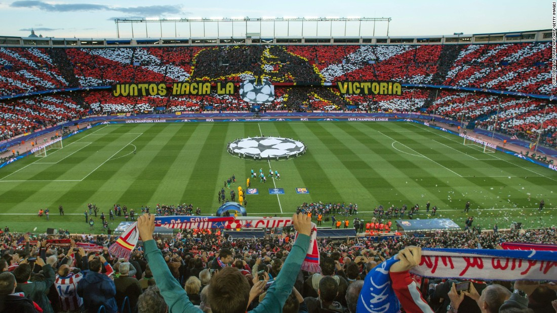 Atletico Madrid welcomed Barcelona to the Vicente Calderon for the second leg of its Champions League quarterfinal tie. Atletico, which was beaten 2-1 in the first leg, was without forward Fernando Torres who was sent off in the first game.<br />