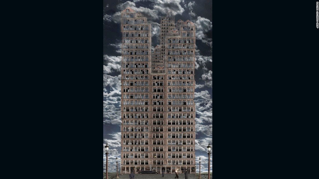 """Babel 2, 2008 -- """"When I began, my first images were the Babels. It was quite a negative view of the world."""""""