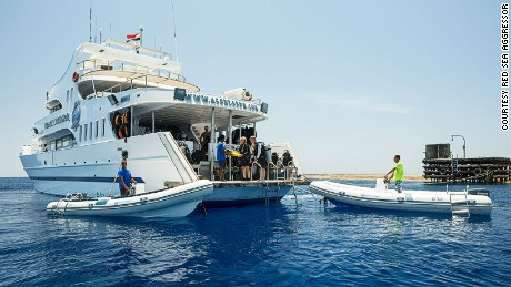 The Red Sea Aggressor is built for comfort. Well, and diving.