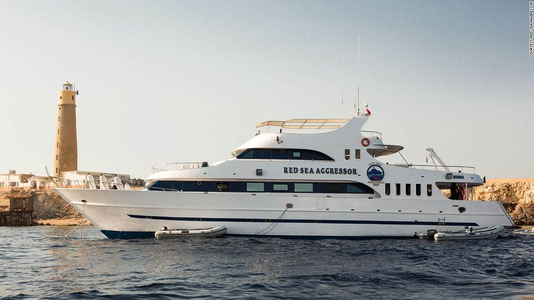 The Red Sea Aggressor is based in the Egyptian Red Sea. It's a spacious 120-foot yacht with a 26-foot beam, hosts 20 guests and is built for max comfort.
