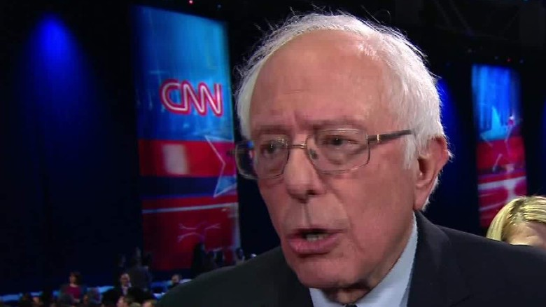 Sanders: Tone is different because we have won 7 states