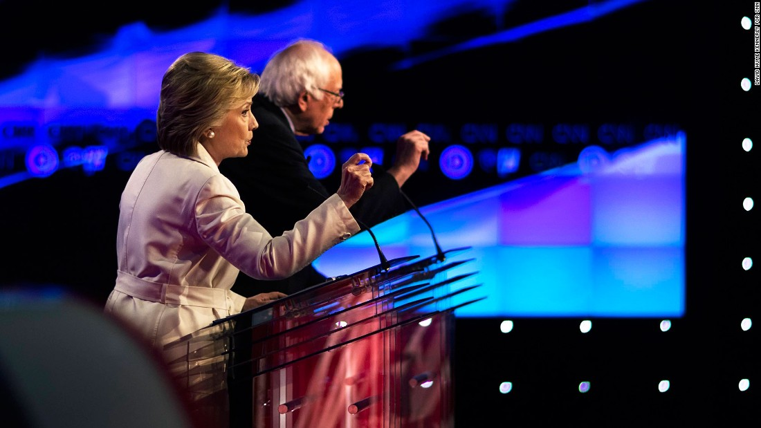 Sen. Bernie Sanders and Sec. Hillary Clinton came out swinging in a fiery, high-stakes CNN debate on Thursday, April 14, as he cast doubt on her judgment and she criticized his command of policy and record on guns.