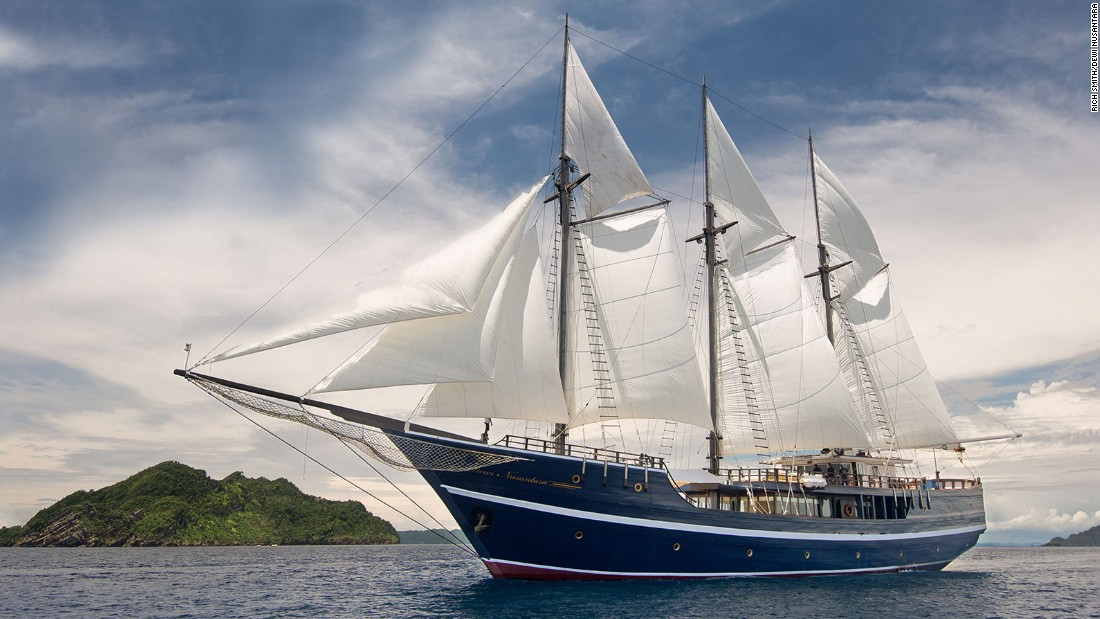 A trip on the Dewi Nusantara, a three-masted schooner, is like sailing on a masterpiece.