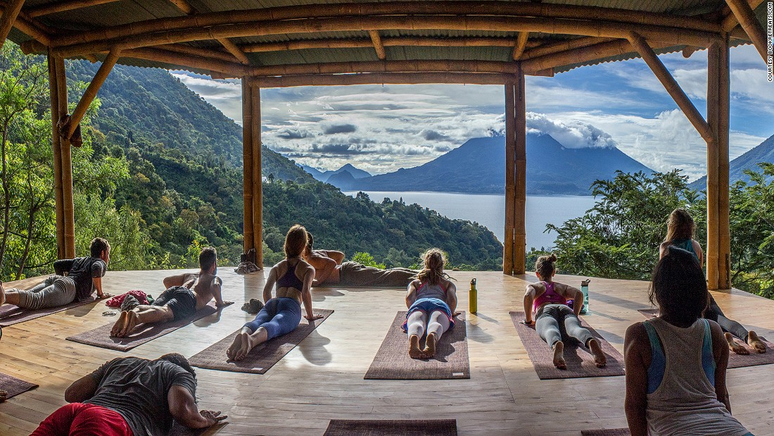 """As the market expands--last year Americans <a href=""""http://media.yogajournal.com/wp-content/uploads/2016-Yoga-in-America-Study-Comprehensive-RESULTS.pdf"""" target=""""_blank"""">spent $16 billion </a>on yoga--more businesses are marrying yoga with vacations. In a Guatemalan forest, <a href=""""http://www.thestorytellerwithin.com/"""" target=""""_blank"""">The Storyteller Within</a> is a womens-only storytelling yoga retreat that helps participants find their voice. Smoothies are made in a blender powered by bicycle."""