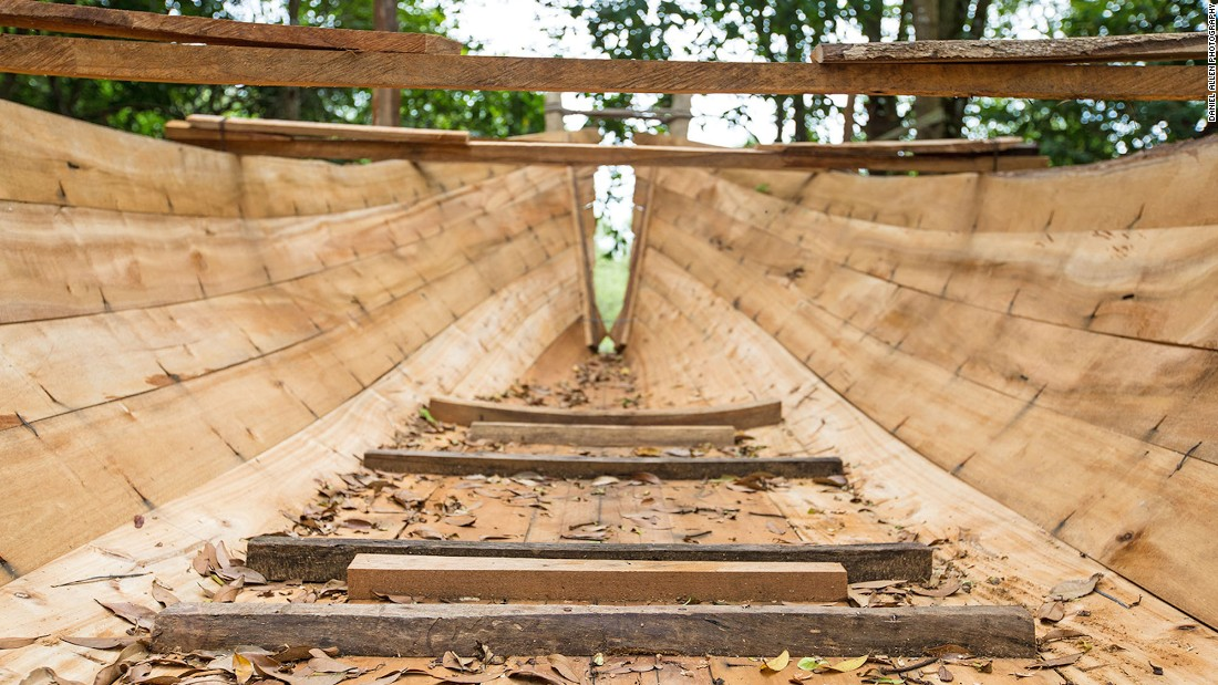 "Across Southeast Asia, traditional boat building can be traced back to the days when Arabian and Indian merchants would ply the region's coastal waters. The building process usually begins with the keel, followed by the bow, the stern and then the outer planks. This framework is held together by string and wire, before the ""ribs"" of the boat are added last. Everything is then fixed together with nails, nuts, bolts and epoxy glue."