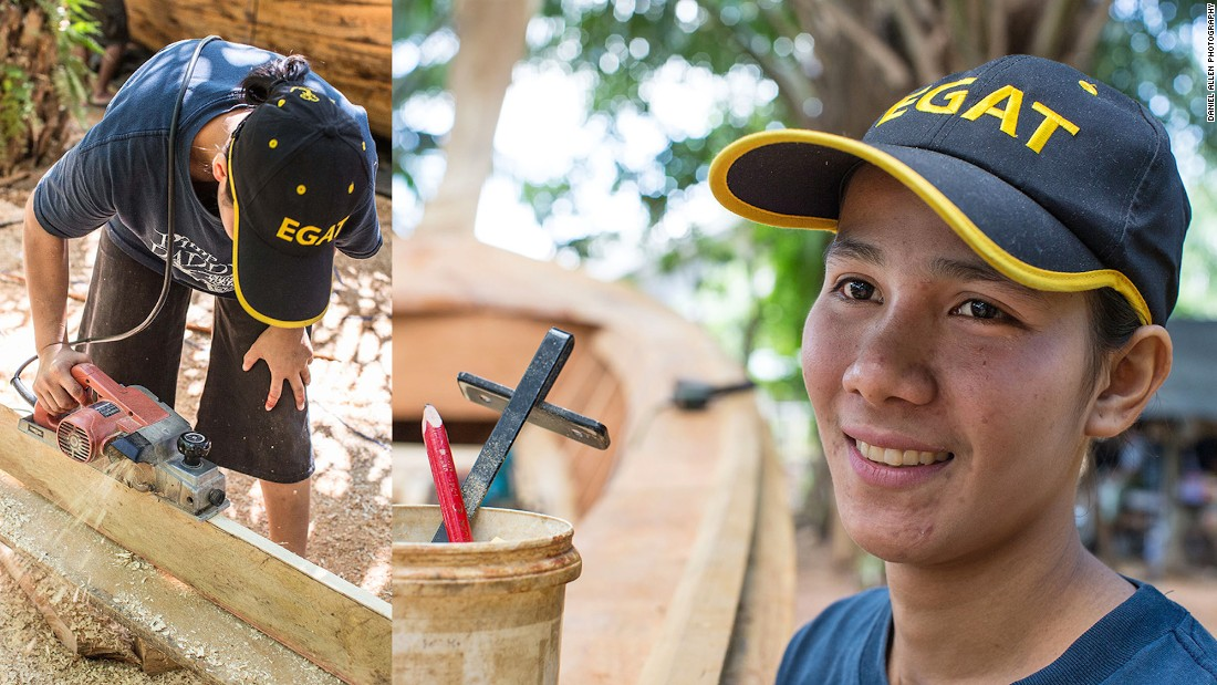 Bundit Kunpoh currently gives lessons in woodcraft to his younger sister and three cousins, all of whom are training to be builders themselves. Apprenticeships typically last three to four years.