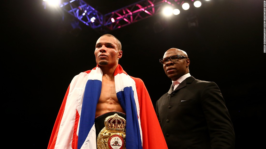 "Eubank Jr. took the British Middleweight title in London last month. The referee stopped the fight in the tenth round after opponent Nick Blackwell's face became so swollen he couldn't see out of his left eye. Blackwell collapsed shortly after and was put into an induced coma. He regained consciousness seven days later and is now recovering. <br />""As two fighters, we go in there and fight for pride and a title,"" said Eubank Jr. of the fight. ""At the end of the day there's no malice or hatred. It's a sport. <br />""I gained so much respect for him (Blackwell) after that fight -- he's a true warrior."""