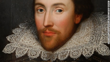 A painting of William Shakespeare which is believed to be the only authentic image of the playwright made during his lifetime.