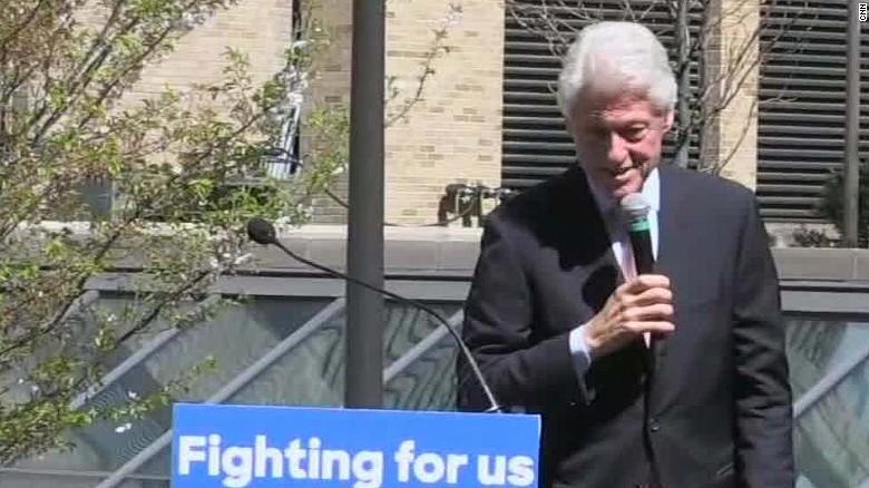 Bill Clinton jokes about Bernie Sanders' supporters