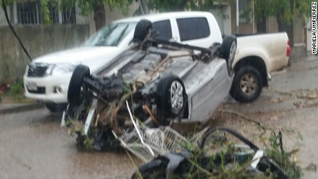 A tornado caused damage in the town of Dolores.