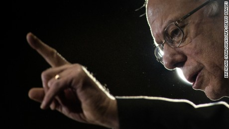 "US presidential hopeful Senator Bernie Sanders speaks during a rally March 14, 2016 in Youngstown, Ohio. White House hopefuls hit the ground in a last-minute push for votes March 14 ahead of a crucial new election test. Dubbed ""Super Tuesday 2"" by US media, the latest major date in the run-up to November's presidential election will see Democratic and Republican primary contests in the states of Florida, Ohio, Illinois, Missouri and North Carolina.  / AFP / Brendan Smialowski        (Photo credit should read BRENDAN SMIALOWSKI/AFP/Getty Images)"