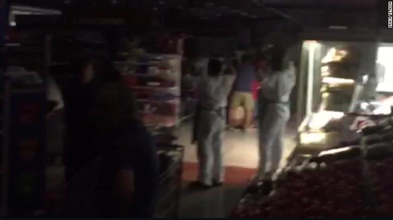 Video shows the moment earthquake strikes Ecuador