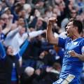 Leicester City's Argentinian striker Leonardo Ulloa