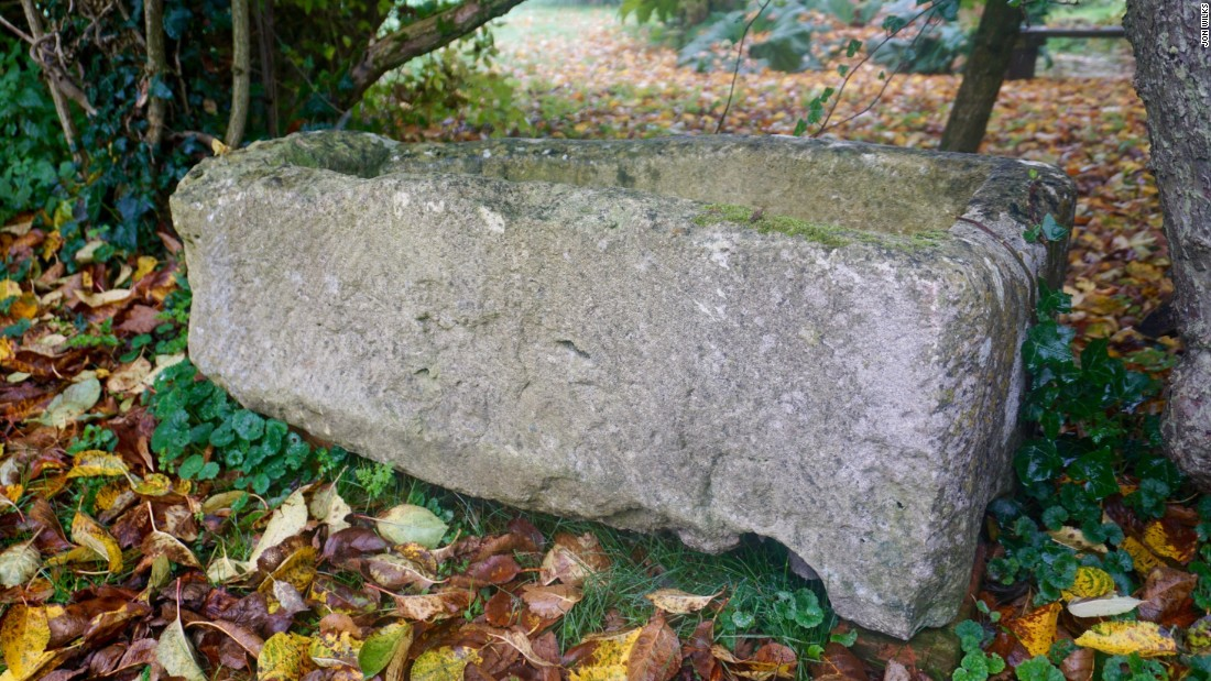 They also determined that a stone planter near the Irwin's kitchen that had been used to house geraniums was actually originally the coffin of a Roman child.