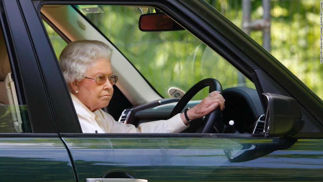 Queen Elizabeth II drives a Range Rover at the International Carriage Driving Grand Prix event of the Royal Windsor Horse Show. Along with Jaguar, Land Rover is the only automotive manufacturer to hold all three Royal Warrants from Her Majesty The Queen, His Royal Highness The Duke of Edinburgh and His Royal Highness The Prince of Wales.