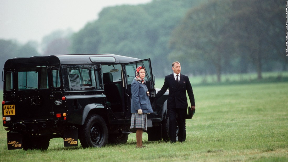 Queen Elizabeth II first learned to drive in 1945 as part of the Auxiliary Territorial Service, when she was trained as a mechanic and military truck driver. Interestingly the monarch doesn't require a license to hit the roads, although she sometimes opts for a butler these days, such as this shot from the Windsor Horse Show, 1985.