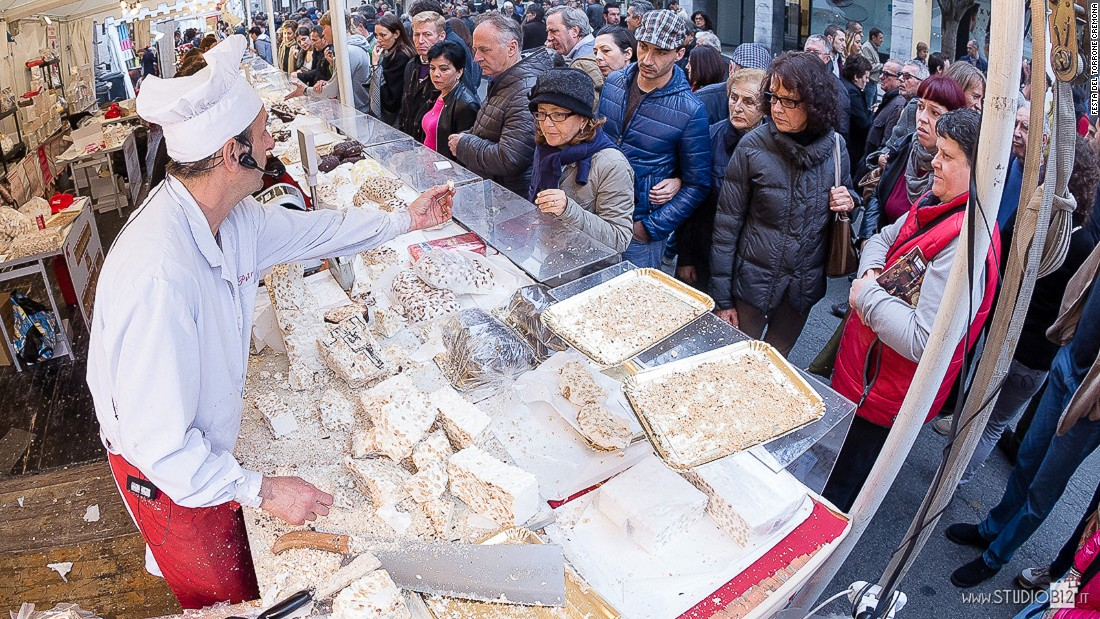 Here's one for the sweet-toothed. Cremona is famous for its turron, nougat created with almond and honey.