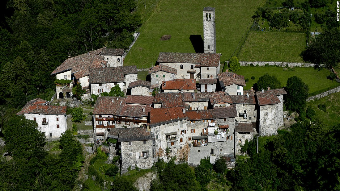 Only 30 residents live in this fairy-tale medieval village, considered to be one of Italy's most beautiful hilltop towns.