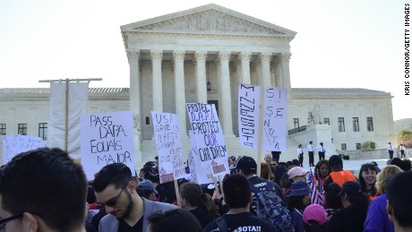 Protestors attend the Fight For Families Rally in front of the Supreme Court of the United States on April 18, 2016 in Washington, DC.