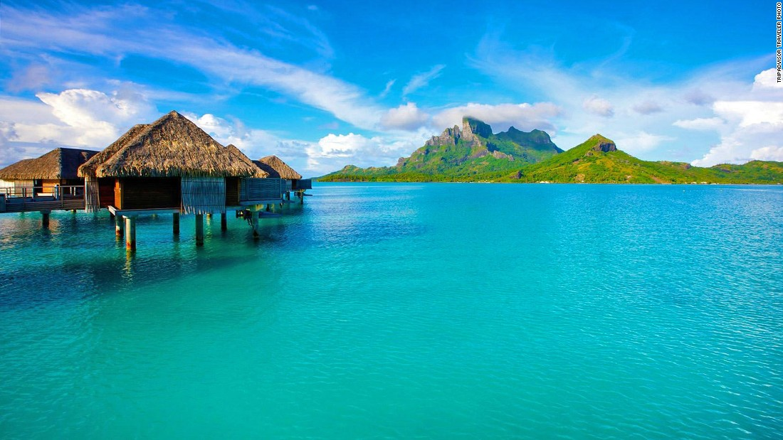 White sand beaches and blue lagoons are two reasons Bora Bora held onto ninth place for a second straight year.