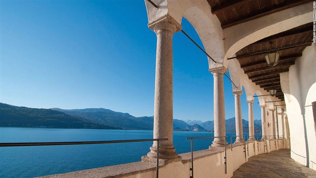A short distance from Sacro Monte, the convent of Santa Caterina del Sasso is also worth a stop. It's cut into a cliffside with stunning views over Lake Maggiore.