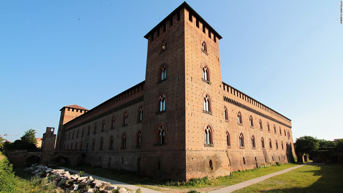 The buzzing town of Pavia, founded by the Germanic Lombard people who gave their name to the region, is a maze of cobbled streets, winding alleys and lively piazzas. Pavia Castle is pictured.
