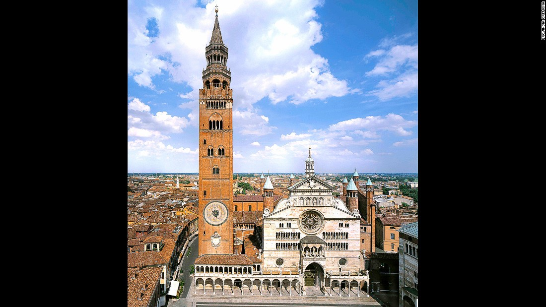 There are 83 towers in Cremona but the tallest is the 111-meter Torrazzo.