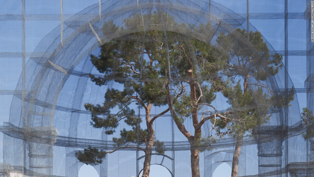 Tresoldi's recent projects include a metal wire archway for Milan Fashion Week, and a hovering dome for the Secret Garden Party festival in Abbots Ripton.