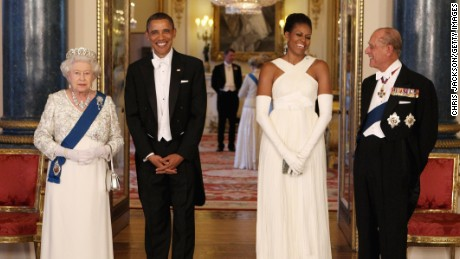 The Obamas meet British royalty