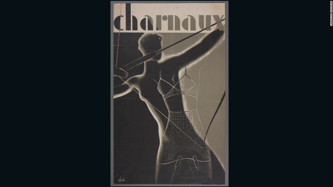Advertising poster designed by Hans Schleger for the Charnaux Patent Corset Co. Ltd, c. 1936, Courtesy of the Hans Schleger Estate