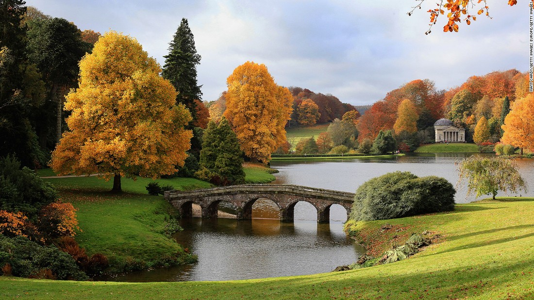 "With neo-classical temples, grottoes and bridges built around the lake, the 18th century <a href=""http://www.nationaltrust.org.uk/stourhead"" target=""_blank"">Stourhead</a> estate is a perfect example of an English landscape garden."